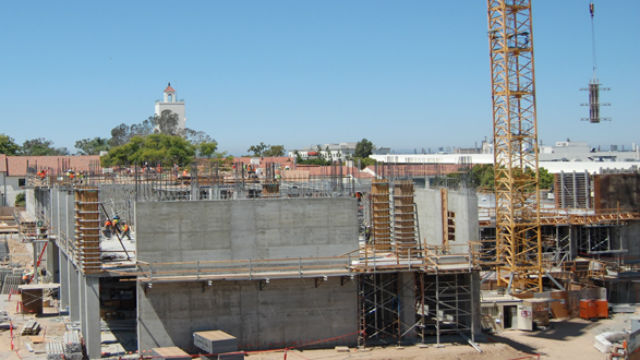 Construction of the Engineering and Interdisciplinary Sciences Complex which will open in January 2018. Courtesy SDSU