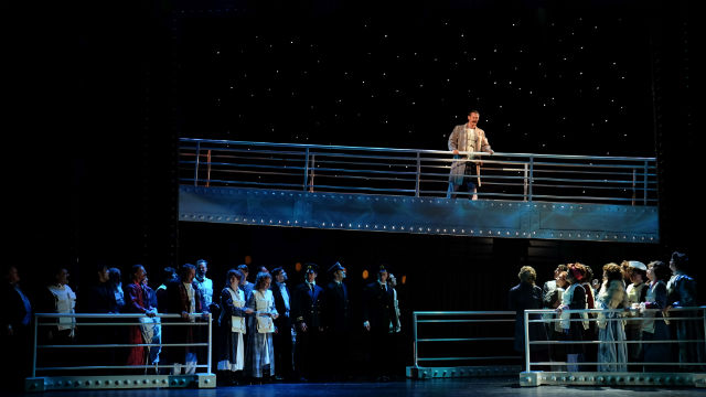 """A scene from """"Titanic: The Musical"""" at the Moonlight State in Vista."""