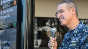 Capt. Jose Acosta speaks at a diversity event in December 2015. Photo via Facebook