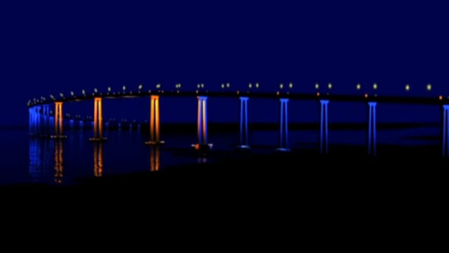 San Diego-Coronado Bay Bridge lighting
