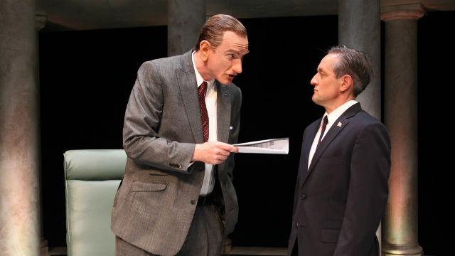 "A scene from ""All the Way"" at South Coast Repertory in Costa Mesa."