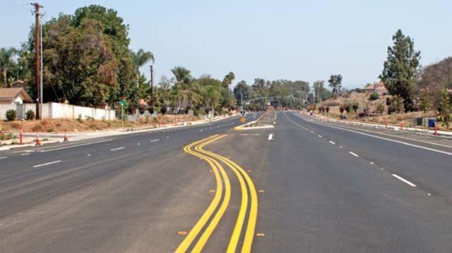 Escondido's Bear Valley Parkway widening project. Photo via sandiegocounty.gov