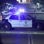 San Diego police at the scene of the shooting in the East Village.