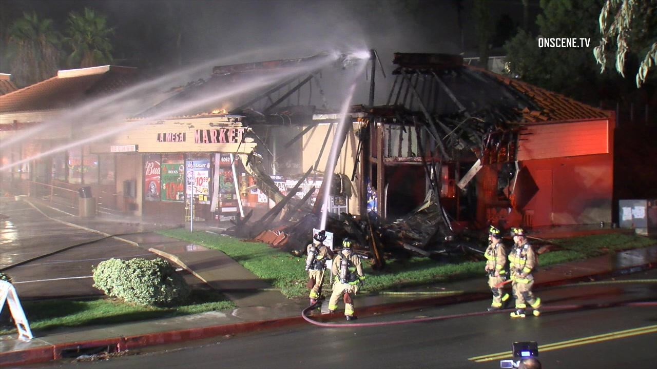 2 Alarm Fire Guts Liquor Store In La Mesa Shopping Center Times Of San Diego