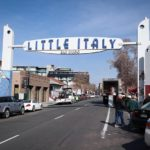 The Little Italy neighborhood sign.