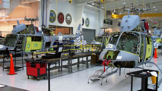 MQ-8C Fire Scouts on the assembly line at Northrop Grumman's manufacturing center in Moss Point, MS.