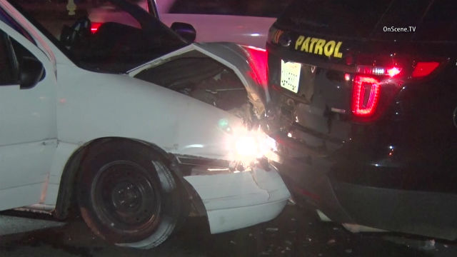 CHP Car Hit While Responding to Multi-Vehicle Collision on SR-78 ...