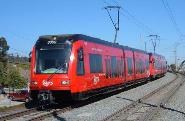 A Green Line Trolley. Courtesy San Diego MTS