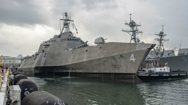 The littoral combat ship USS Coronado in Hawaii. Navy photo