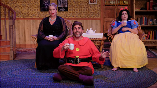 "A scene from ""Vanya and Sonia and Masha and Spike"" at Scripps Ranch Theatre."
