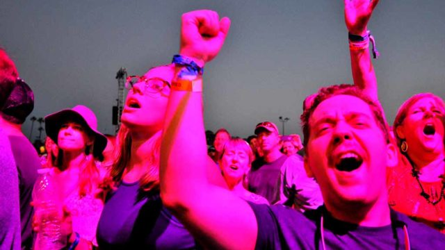 Lights and music fan the excitement at KAABOO music and lifestyle festival in Del Mar. Photo by Chris Stone