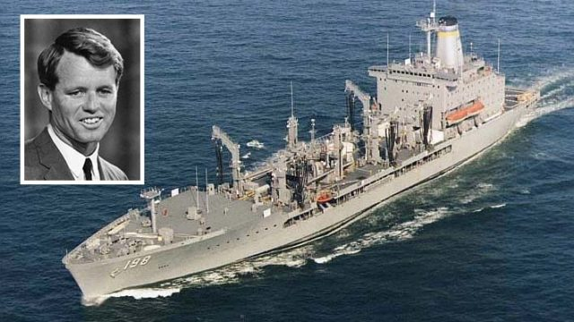Robert F. Kennedy's name will be on new generation of Navy tankers. USNS Big Horn is shown. Photos via Wikimedia Commons