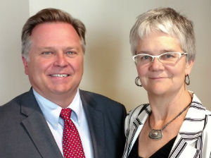 Matthew Adams and Sue Reynolds