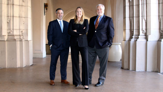 Tony Manolatos (left), Kelly Murphy Lamkin and Bob Nelson of Manolatos Nelson Murphy Advertising & Public Relations.