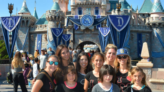Girls with their mentors at a bonding weekend at Disneyland.