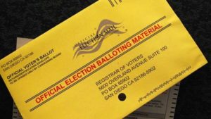 Election mail ballot. Photo courtesy of County News Center