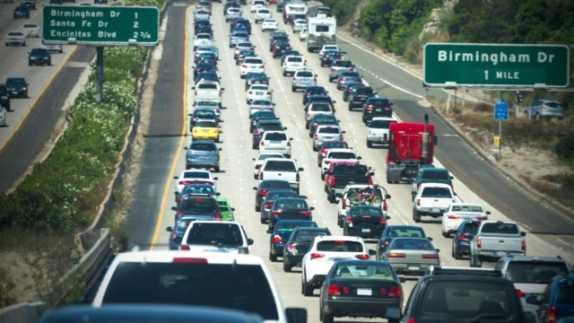 Gridlock on Interstate 5 in North County. Courtesy SANDAG