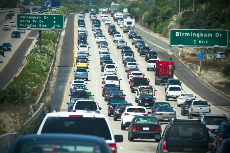 Gridlock on I-5 in North County