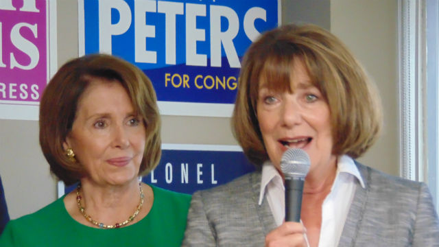 House Minority Leader Nancy Pelosi (left) and Rep. Susan Davis. Photo by Chris Jennewein