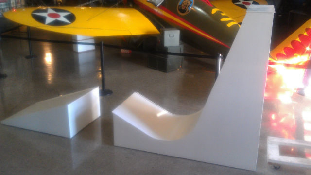 "The test ramp for the San Diego Air & Space Museum's ""flying car"" competition."