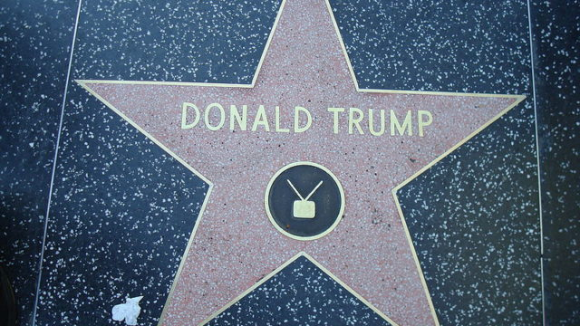 Donald Trump's star on the Hollywood Walk of Fame. Photo via Wikimedia Commons