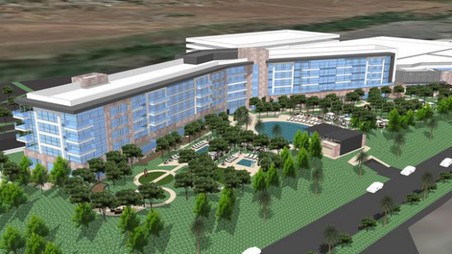 A rendering of the third hotel tower planned by the Viejas Band.