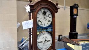 This clock is similar to the first one that Nile Godfrey retrieved at the dump. Photo by Chris Stone