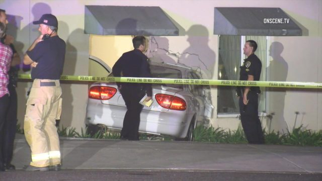 Police and paramedics at the scene of the crash in La Jolla. Courtesy OnScene.TV