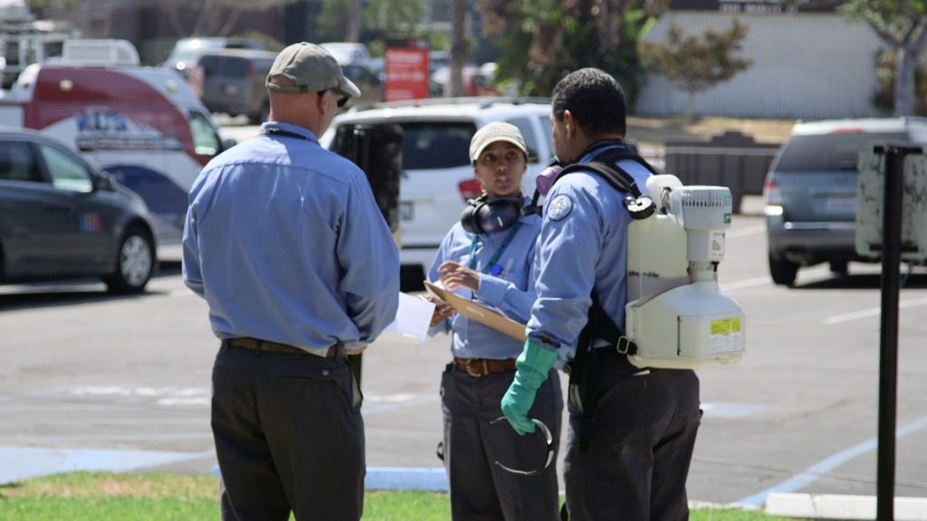San Diego County Vector Control personnel prepare to spray for possible Zika-carrying mosquitoes. Courtesy County News Center