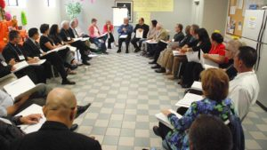 Delegates from around the county took part in five groups at the synod. Photo by Chris Stone