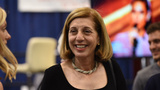 Barbara Bry at Election Central in downtown San Diego on Tuesday night. Photo by Chris Stone