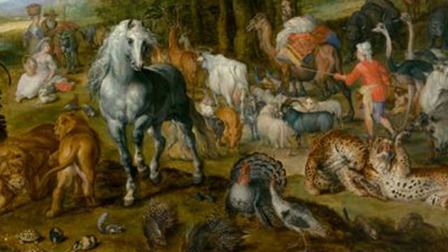 """A detail from """"The Entry Of The Animals Into Noah's Ark"""" by Jan Brueghel the Elder."""
