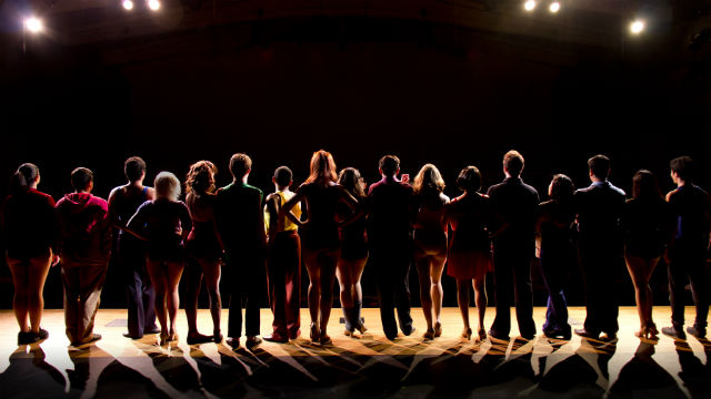 "A scene from ""A Chorus Line"" at the Coronado Playhouse."