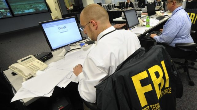 An FBI counterterrorism team at work. FBI photo