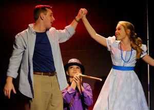 "A scene from ""The Fantasticks"" at Scripps Ranch Theatre."