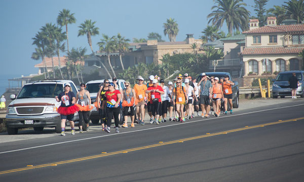 Walkers in the Southern California Challenge Walk MS on Friday.