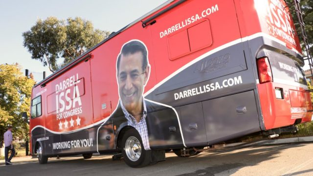 Rep. Darrell Issa's 'Chutzpah Tour' bus. Photo courtesy of the campaign