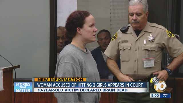Arraignment of Julianne Little in February 2016. Image via ABC 10 News