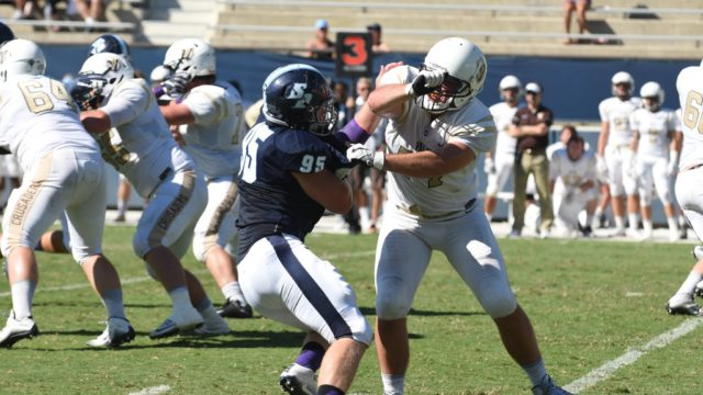 Jonathan Petersen of the Toreros was named defensive player of the week. Courtesy USD Toreros Facebook
