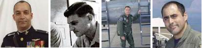From left: Marine Capt. Jason James Paynter, Air Force Capt. Michael Jack Crawford, Air Force 1st Lt. Jason William Davis, Navy Lt. Christian John Hescock. Courtesy SDSU