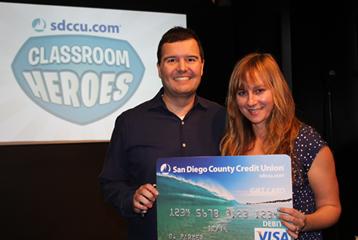 Melissa Cuevas of Knob Hill Elementary School in San Marcos was recognized through SDCCU Classroom Heroes. Photo courtesy SDDCU