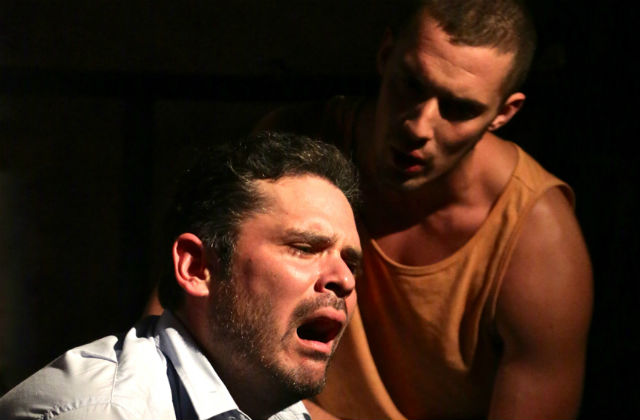 """A scene from """"Seven Spots on The Sun"""" at InnerMission Productions."""