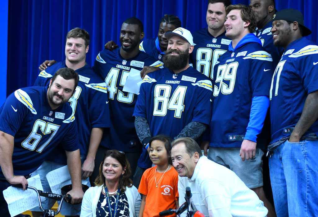 f42a433d No Baker's Dozen: Bolts' Bike Giveaway Delights 150 - Times of San Diego