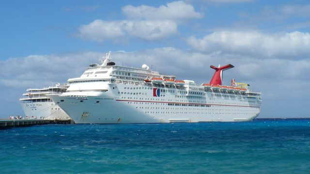 View of the Carnival Inspiration. Taken at Cozumel in 2008. Photo by Altairisfar (Own work) [Public domain], via Wikimedia Commons