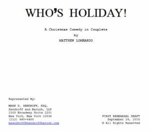 "Text of Matthew Lombardo play ""Who's Holiday!"" (PDF)"