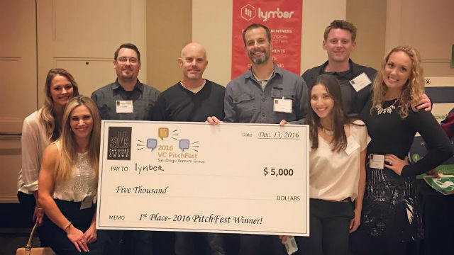 The Lymber team with their PitchFest check.