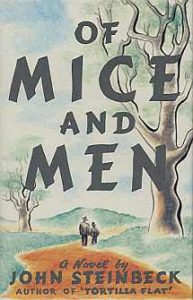 "First edition cover for ""Of Mice and Men."" Photo via Wikimedia Commons"