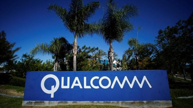 A Qualcomm sign