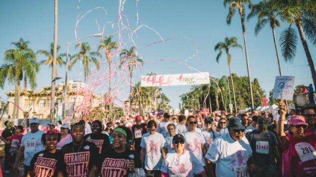 The start of the annual Susan B. Komen Race for the Cure.