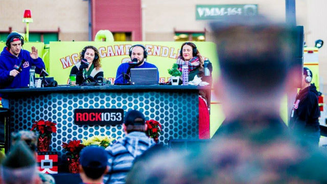 Rock 105.3's live broadcast from Camp Pendleton.